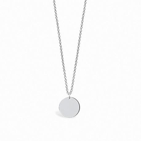 Back to Basics Circle Silver Necklace