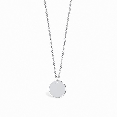 Basic Circle Silver Necklace