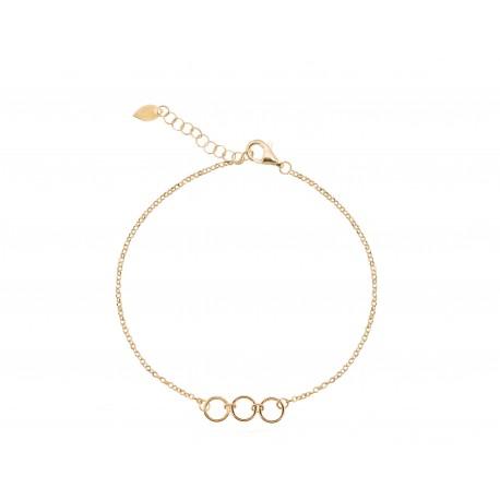 Back to Basics 3 Rings Golden Bracelet