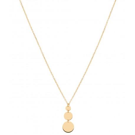 Back to Basics 3 Circles Golden Necklace