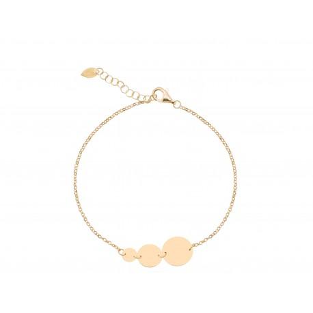 Basic 3 Circles Golden Bracelet