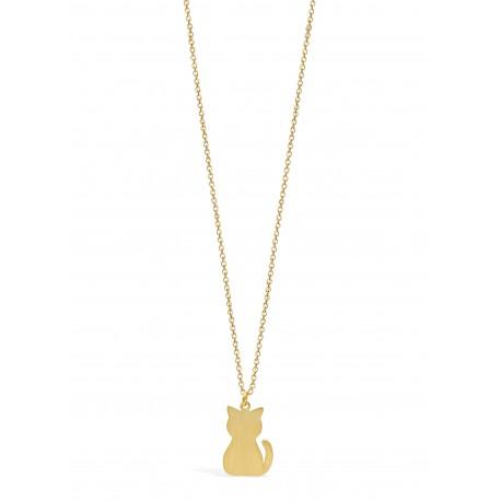 Nature Cat Golden Necklace