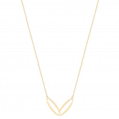 Back to Basics 2 Oval Links Golden Necklace