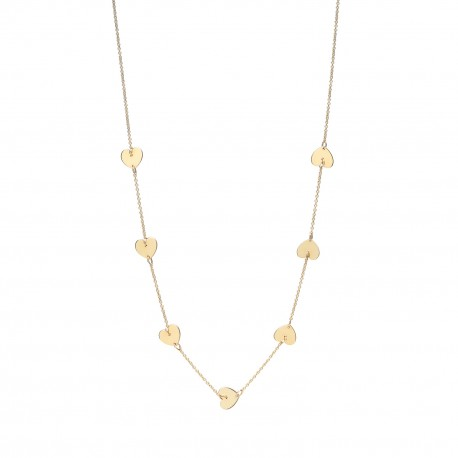 Love 7 Hearts Golden Necklace