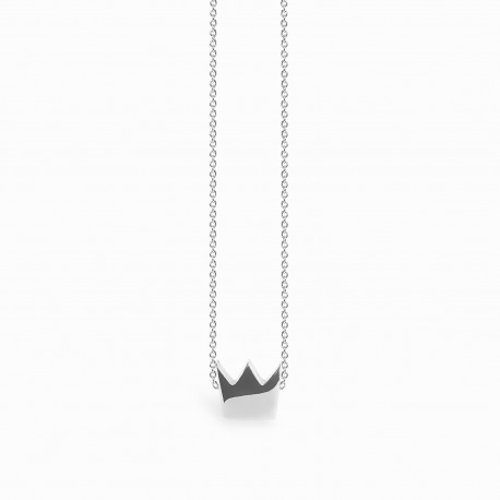 Full Crown Silver Necklace