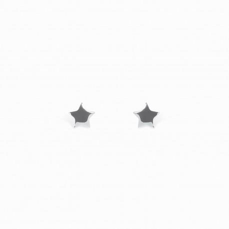 Full Star Silver Earrings