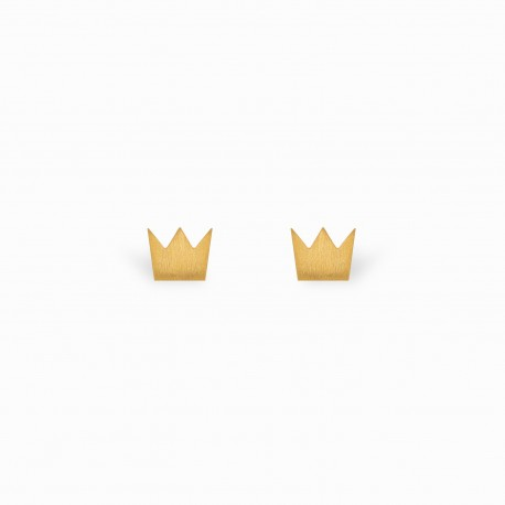 Full Crown Golden Earrings