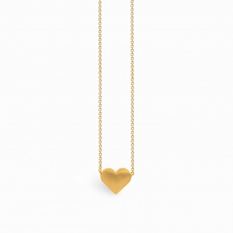 Full Heart Golden Necklace