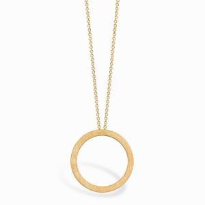 Geometric Circle Golden Necklace