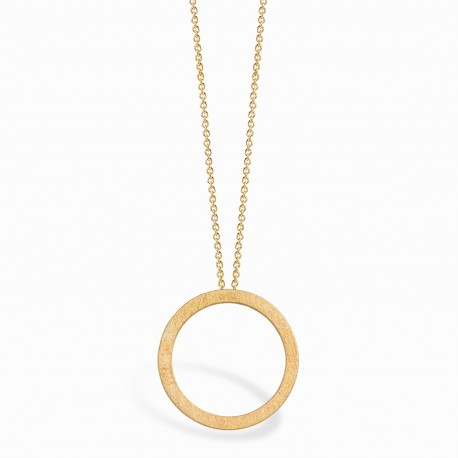 Geometric Circle Golden Necklace