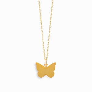 Nature Butterfly Golden Necklace