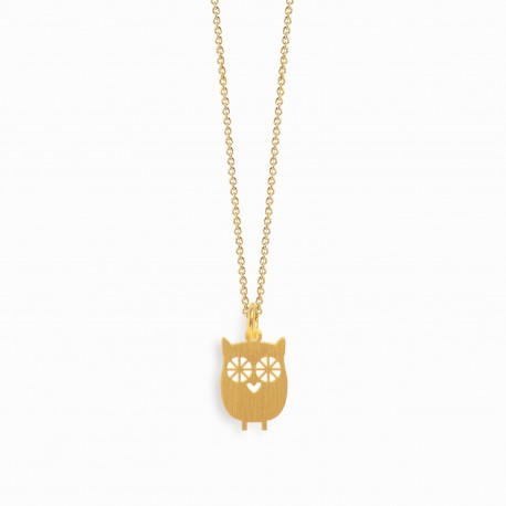 Nature Owl Golden Necklace