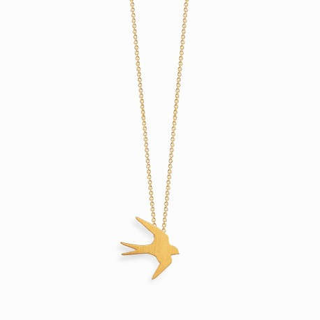 Nature Swallow Golden Necklace