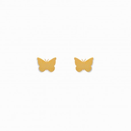 Nature Butterfly Golden Earrings