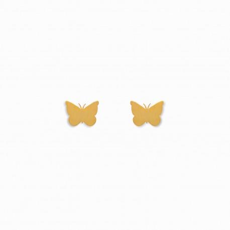 Brincos Nature Borboleta Dourados