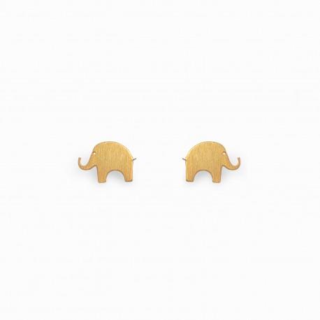 Brincos Nature Elefante Dourados