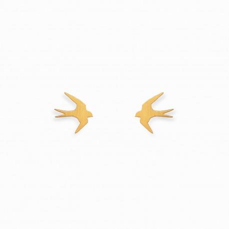 Brincos Nature Andorinha Dourados