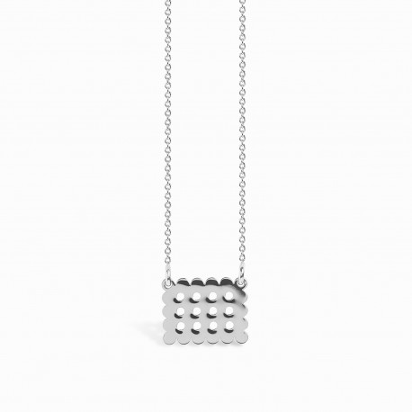 Mini Coquine Cookie Silver Necklace