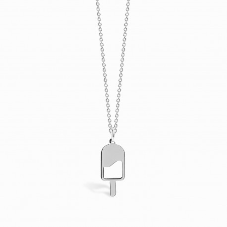 Mini Coquine Ice Cream Silver Necklace