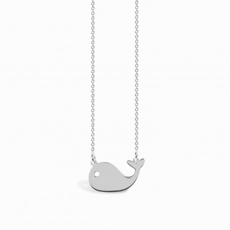 Mini Coquine Whale Silver Necklace