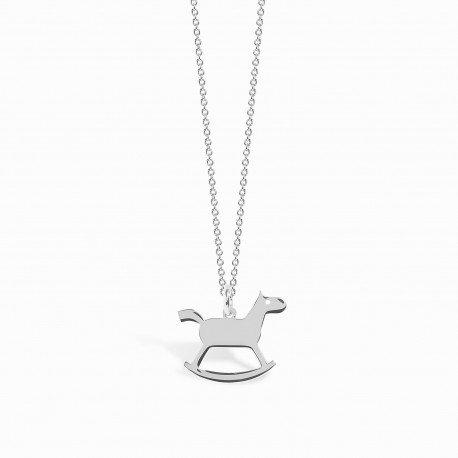 Mini Coquine Horse Silver Necklace