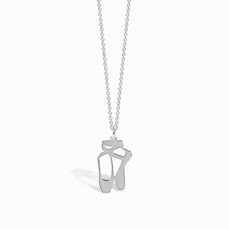 Life Ballerina Silver Necklace