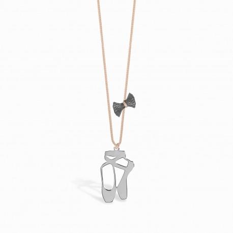 Life Ballerina Silver Linen Necklace