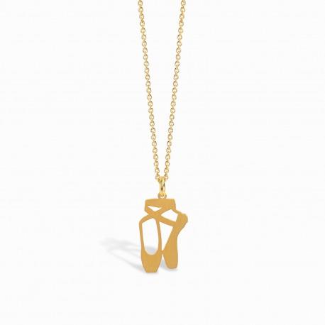 Life Ballerina Golden Necklace
