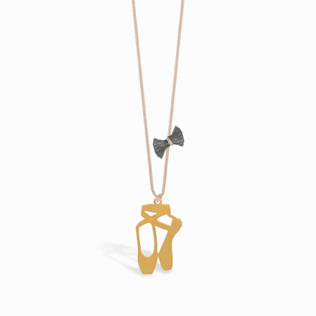 Mini Coquine Ballerina Golden Linen Necklace