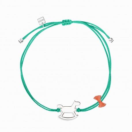 Mini Coquine Horse Silver Linen Bracelet