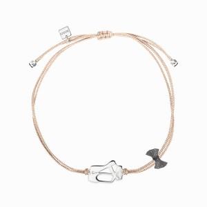 Mini Coquine Ballerina Silver Linen Bracelet
