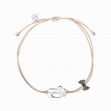Life Ballerina Silver Linen Bracelet