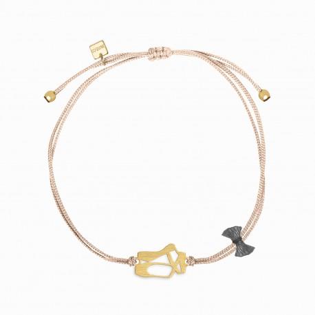Mini Coquine Ballerina Golden Linen Bracelet