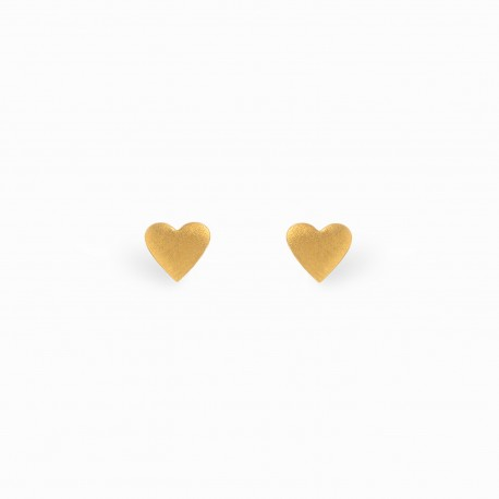 Full Heart Golden Earrings
