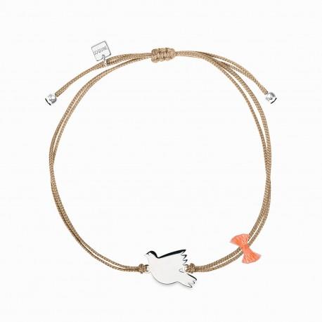 Holy Spirit Silver Linen Bracelet