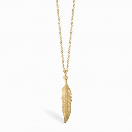 Boho Feather Golden Necklace
