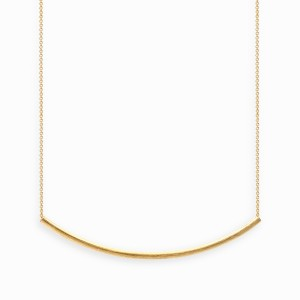 Linear Arc Golden Necklace