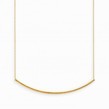 Geometric Arc Golden Necklace