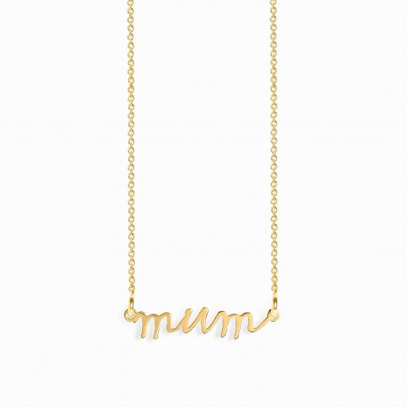 Mum Handwritten Golden Necklace