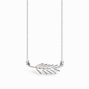 Boho Leaf Silver Necklace