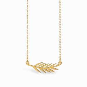Boho Leaf Golden Necklace
