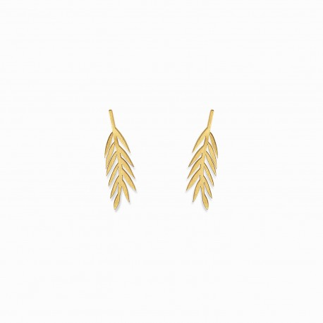 Boho Leaf Golden Earrings