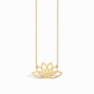 Boho Lotus Golden Necklace