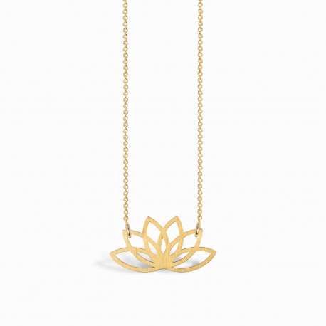 Boho Lotus Golden Necklace