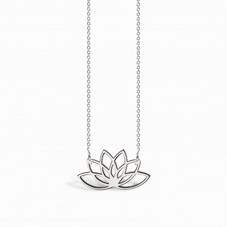Boho Lotus Silver Necklace