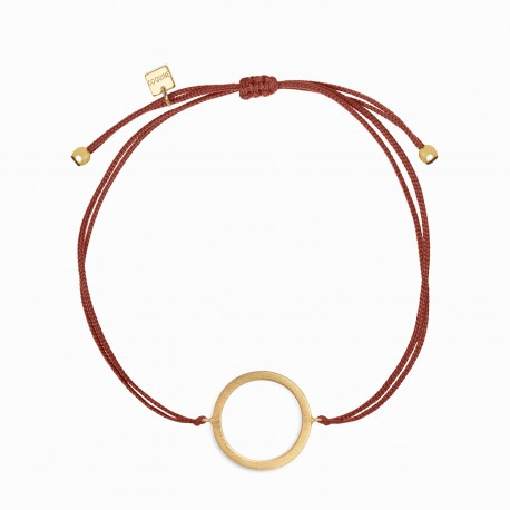 Geometric Circle Golden Linen Bracelet
