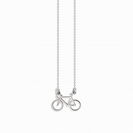 Life Bike Silver Necklace
