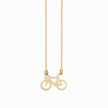 Life Bike Golden Necklace