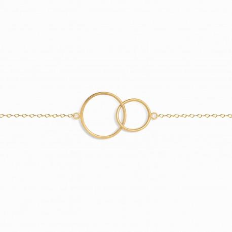 Back to basics Double Circle Golden Bracelet