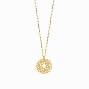 Boho Rosacea Golden Necklace